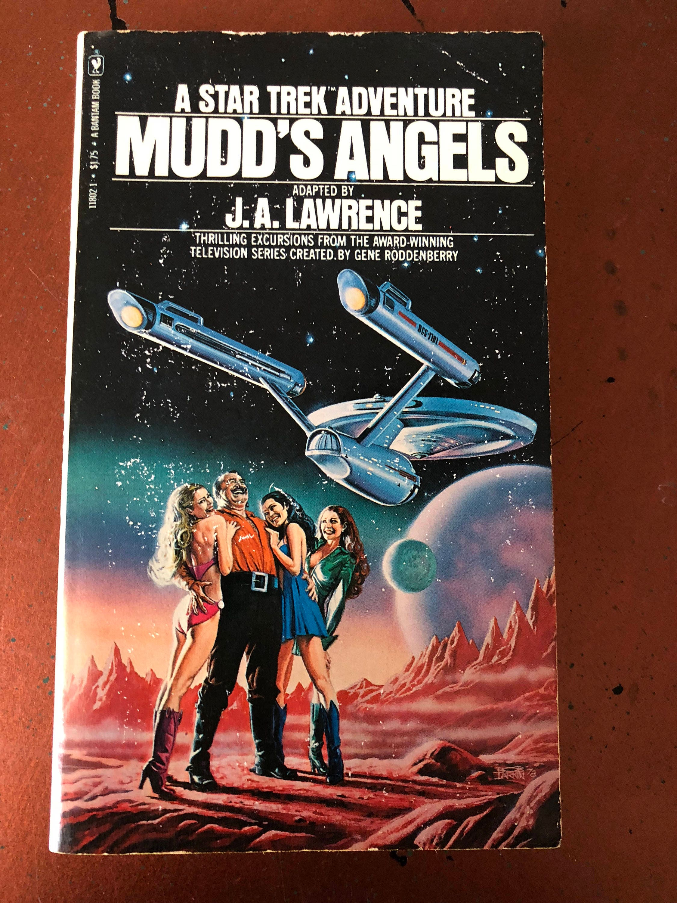 Mudd's Angels - A Star Trek Adventure - By J.A. Lawrence - Vintage Sci-Fi Book