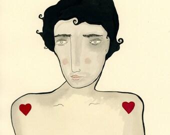 Valentin Hearthrob-, cadeau de Saint Valentin, Valentine print, amant, amour, coeur, homme Sexy, coeurs,