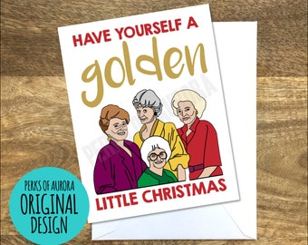 Funny Christmas Card, Golden Girls inspired, Golden Little Christmas