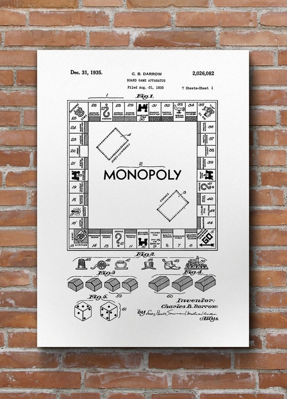 Monopoly patent print monopoly patent board game art monopoly patent print monopoly patent board game art monopoly blueprint board games da0466 malvernweather Image collections