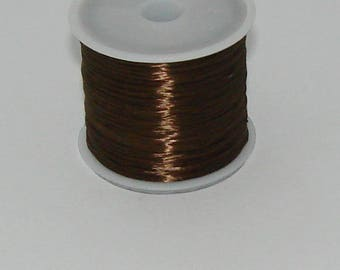 3 m elastic Brown 0.8 mm thick