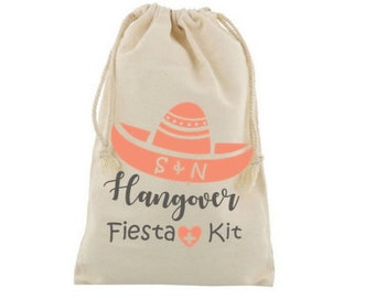 Hangover Kit, Mexico survival, Fiesta like there is no tomorrow. Bachelorette Funny hangover. Wedding guest favor. Survival kit