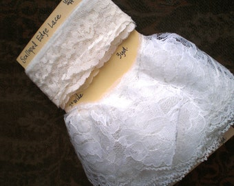 Lace - White - various widths - various lengths