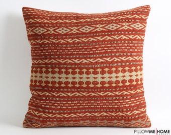 Striped kilim pillow cover 20x20 bohemian pillows, accent pillow, tribal pillow, turkish kilim pillow, decorative cushion, bohemian decor