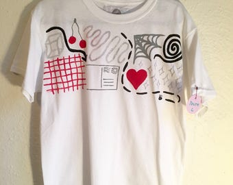Hand Painted Youth L T Shirt 〰 One of a Kind Painted Kids Clothing 〰 Created by Sam Pletcher