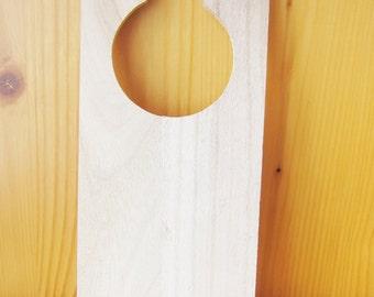 Personalized Wood Door Hanger, Kids Party Gifts, Kids Craft Supplies, custom order, wholesale wood craft