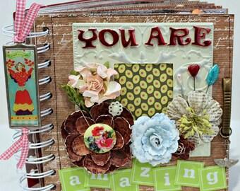 YOU ARE AMAZING   A-z Friendship Love Family Scrapbook Photo Album