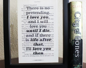 The Mortal Instrument • There is no pretending • Shadowhunters • City of Ashes • Book Quote • Wall Print • Fandom Merch • Book Print