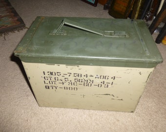 Ammo Box - Vintage Large Steel Form for 800 rounds of 5.56mm ammo - great storage indoors or out