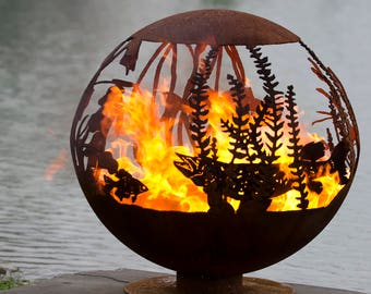 Red Lake Fire Pit Sphere