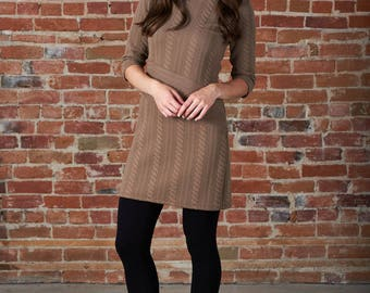 Sofia quilted sweater dress tunic