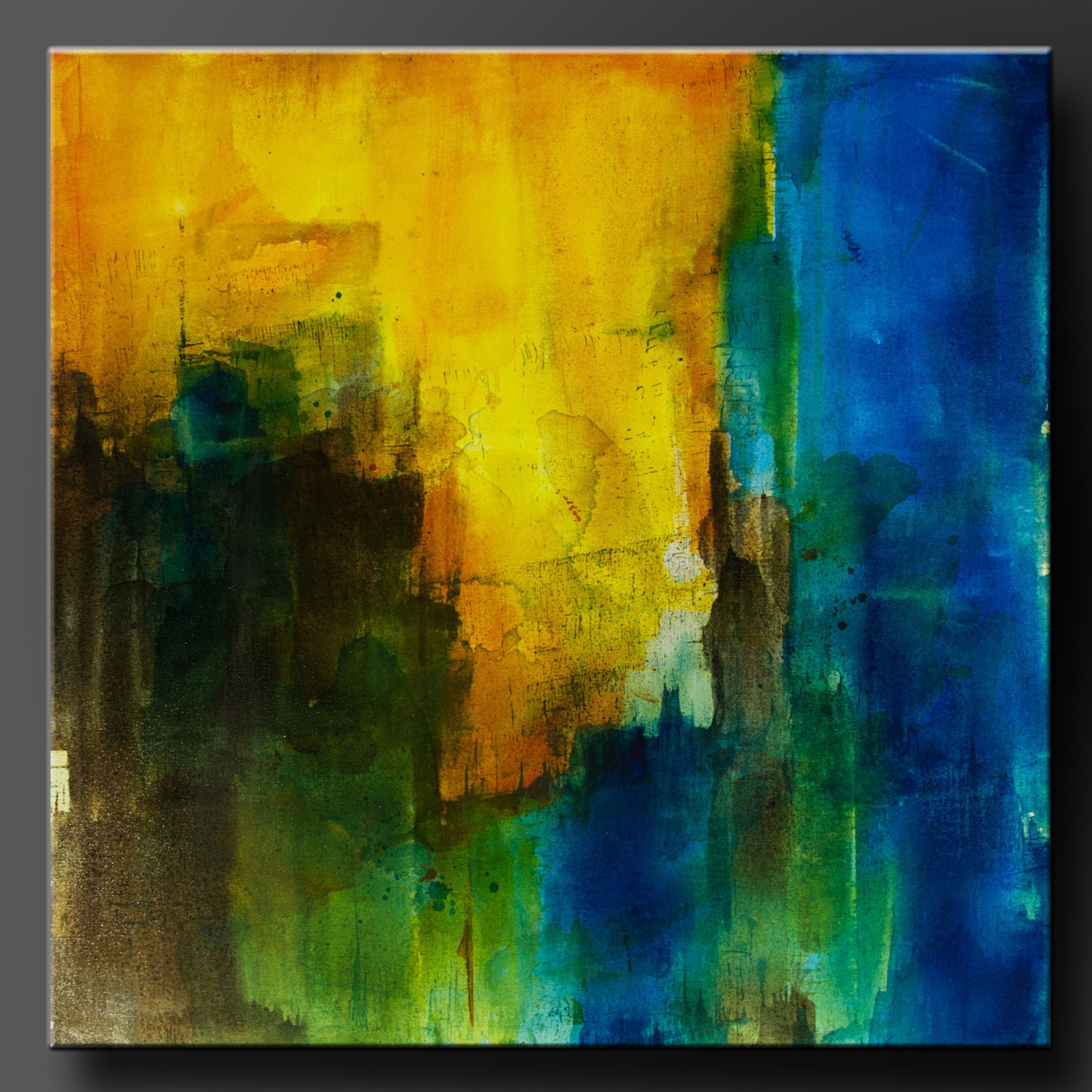 Threshold 24 x 24 Abstract Acrylic Painting Contemporary