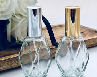 Bijou Bottle | 2oz Geometric Glass Spray Bottle