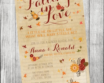 Fall Baby Shower/Gender Reveal Invitation
