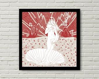 Affiche sérigraphie - Venus Abbath