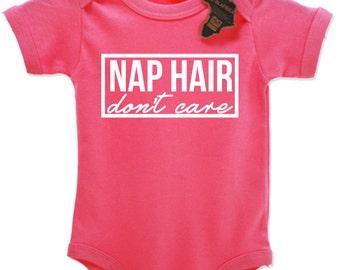 Nap Hair Don't Care Babygrow Vest Top Cute EBG65