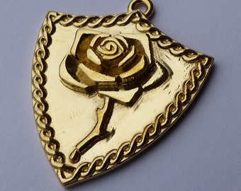 Bleeding Rose Shield Necklace