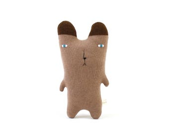 Little Brown Bear - soft knitted toy, baby toy, kids toy, baby gift, gift for kids