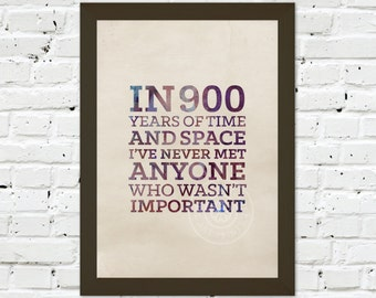0070 Dr Who Quote A3 Wall Art Print Multiple Sizes