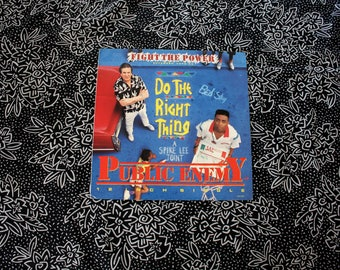 "Public Enemy - Fight The Power - Vintage Vinyl 12"" EP Record Album - Original 1989 Do The Right Thing Soundtrack Public Enemy Single"
