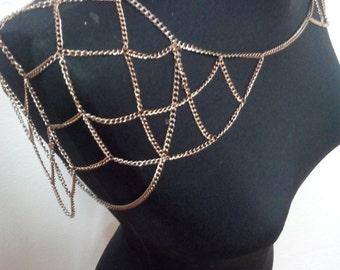 la cadena de hombro, hombro cobre cadena, collar