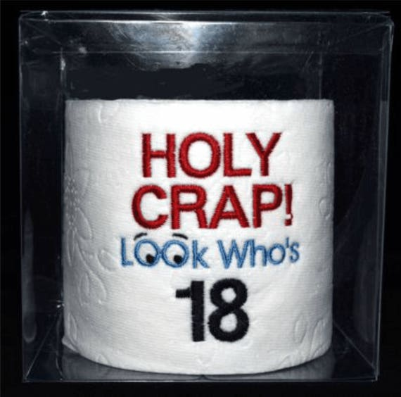 18th Birthday Gag Gift Embroidered Holy Crap 18th Birthday