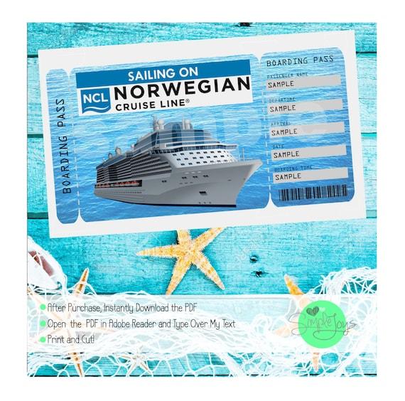 norwegian cruise printable ticket cruise ship