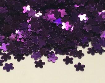 Tiny purple shinny flower confetti , 3 mm (23)