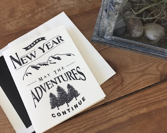Letterpressed New Years Adventure Card