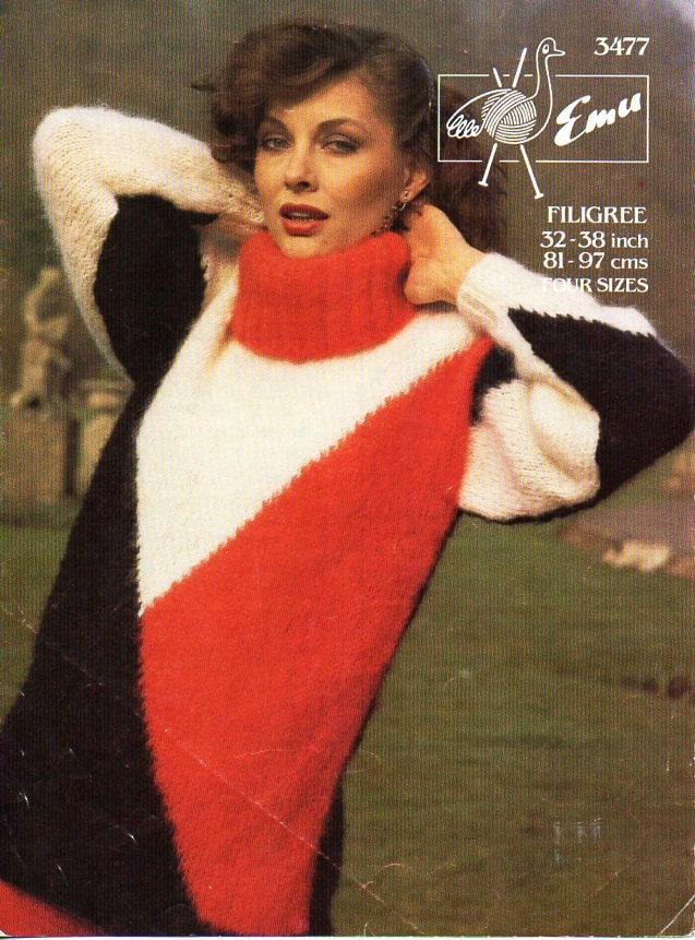 ladies mohair polo neck sweater womens knitting pattern pdf mohair ...