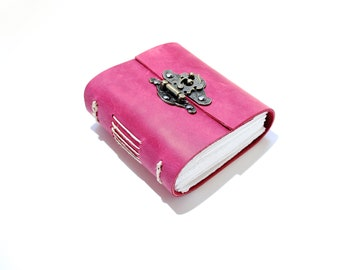The Pink journal - Handmade leather journal