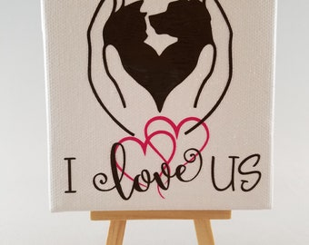 I Love Us Canvas
