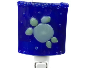 Night Light, Dark Blue with Green Turtle, Home Accent