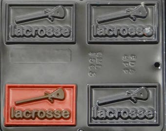 Lacrosse Greeting Card Chocolate Candy Mold 1563