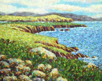 Ireland Dingle Peninsula County Kerry Painting Emerald Isle Original Oil Impressionist Landscape Wall Art Unique Gift By Kim Stenberg