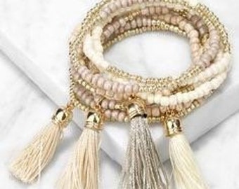 Tassel bracelets for adults and babies
