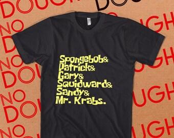Spongebob Squarepants BLACK T-Shirt - 90s Nick Nickelodeon TV Cartoons