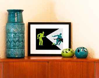 Caught in the Act - 8 x 10 Art Print on 100% Recycled Paper (Free Shipping in US)