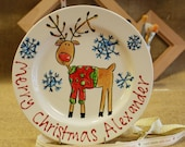 Personalised Reindeer Pla...