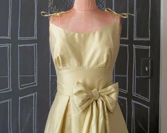 Sample SALE Wrapture Dress - Yellow Silk Wrap Dress