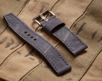 Vintage RAF Military Canvas Watch Strap in 20mm, 22mm, 24mm, 26mm sizes Sizes