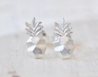 Origami Pineapple Earrings in Sterling Silver, Pineapple Stud Earrings, Sterling Silver Pineapple Jewelry, Pinapple Jewelry, Jamber Jewels