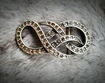 Belt buckle, buckle, buckle - sparkle wave gold
