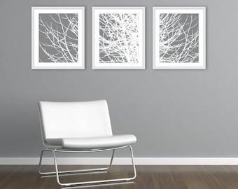Arbre mur, arbre estampes, arbre moderne estampes, Branches Wall Art, gravures de Branches, 11 x 14 ou 16 x 20, couleur personnalisée, tous droits réservés
