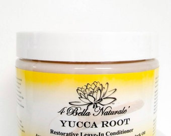 Leave-In Conditioner Yucca Root Restorative  12oz-Hair Growth-Organic-Natural-Jamaican Black Castor Avocado Buter