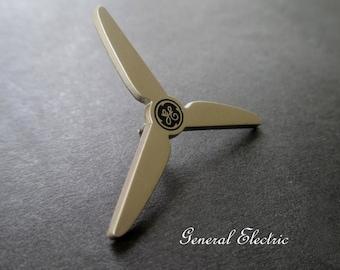 GE Tie Tack Pin * General Electric Pin * Collectible Pin