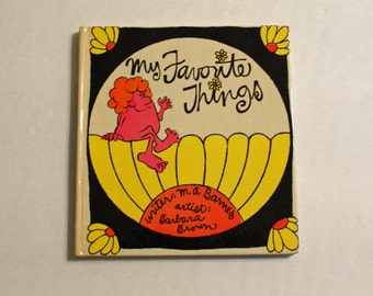My Favorite Things 1969 Tiny Book  by M.A. Barnes - Illustrations Barbara Brown