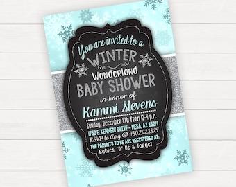 Baby Shower Invitation Winter Wonderland Baby Shower Winter Baby Shower Christmas Baby Shower Winter Invitation Printable Baby Shower