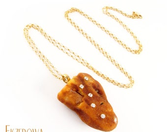 Amber glow - pendant with Baltic Amber nugget