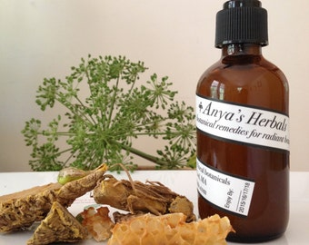 Raw Honey and Turmeric: Organic Acne Cleanser. Organic Skin Care, Natural Acne Care, Oily to Normal Skin, Organic Acne Gentle Treatment